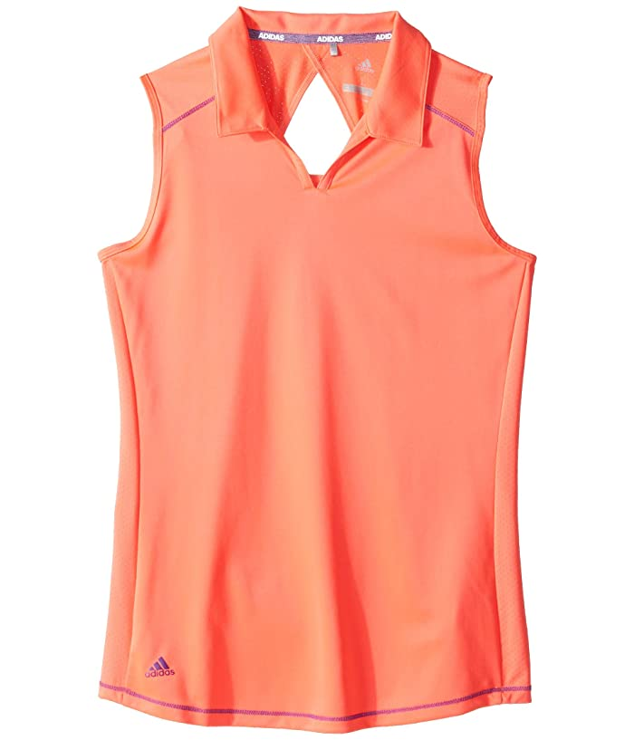 adidas Golf Kids  Fashion Sleeveless Polo (Big Kids) (Red Zest) Girls Sleeveless