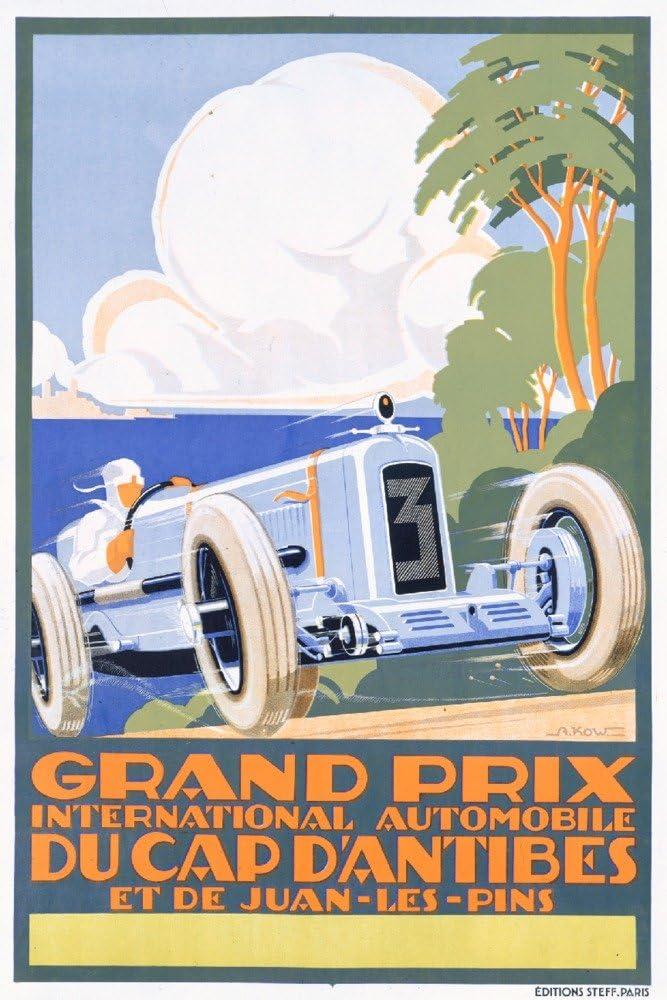 Gand Challenge the lowest price of Japan ☆ Max 73% OFF Prix du Cap d'Antibes Vintage Kow artist: France Poster c