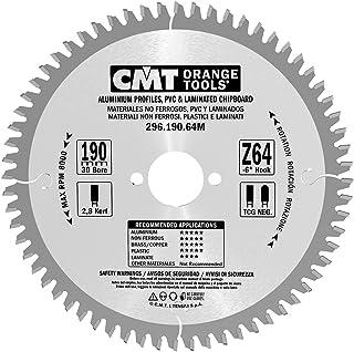 CMT Orange Tools Cirkelsågblad HW 190 x 2,8/2,2 x 30 Z=64 TCG – 296.190.64M – för järnfritt material, plast och laminat