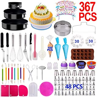 Cake Decorating Supplies 2020 Upgrade 367 PCS Baking Set with Springform Cake Pans..