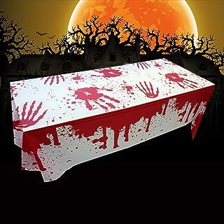 comprar comparacion Mantel de halloween, Manteles de sangre de Halloween, Mantel sangriento espeluznante, Decoración de fiesta de Halloween Ma...