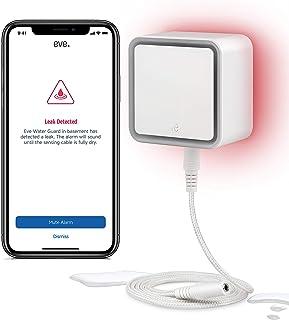Eve Water Guard – Smarter Wassermelder, 2m Sensorkabel (verlängerbar), 100dB,..