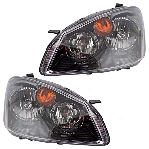 Driver and Passenger Halogen Headlights Headlamps Replacement for Nissan 26060ZB525 26010ZB525
