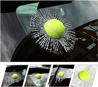 FineFun 3D Car Stickers Funny Auto Car Styling Ball Hits Car Body Window Sticker Self Adhesive Tennis Decal