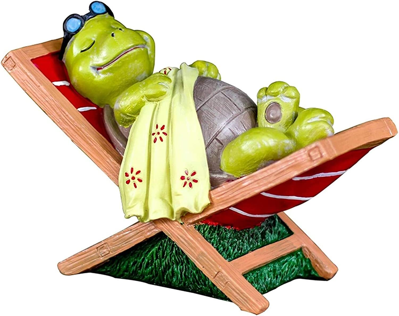 Jardín de esculturas de animales creativo tortuga silla del ocio estatua de la resina linda Pastoral Animal decoración del hogar del ornamento Crafts Decoración de jardín Art Garden Sculpture Decoraci