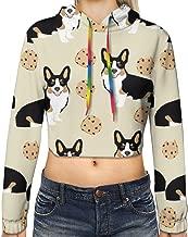 Women & Girls Long Sleeves Crop Sweatshirts Short Hoodies Sports Outwear