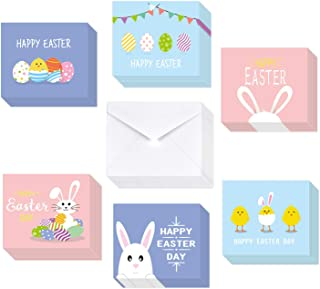 Best TUPARKA 36 Pack Happy Easter Cards 2020, Easter Greeting Cards Assortment,Spring Note Cards with 36 Envelopes for Kids, 6 Designed Review