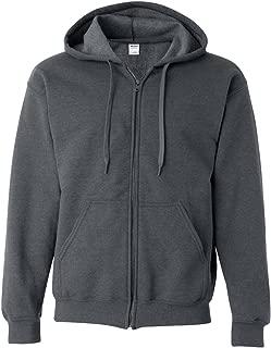 Heavy Blend Men's Vintage Full Zip Hooded Sweatshirt, Tweed, XX-Large