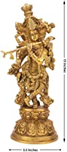 Brass Krishna Idol Murli Krishan Bhagwan Statue Murti Gift Home Decor Hindu God Deity Lord Religious Height 15 Inches