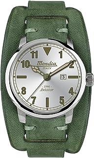 Mondia Italy 1946 Aviator Mens Analog Japanese Quartz Watch with Leather Bracelet MI749-1CP