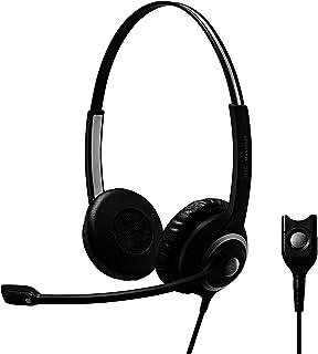 Sennheiser SC 260 - Bocinas con micrófono (Centro de llamadas/Oficina, BiBocina, Diadema, Alámbrico, 1 metros, Supraaural)