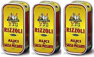 comprar comparacion Anchoas Rizzoli filetes enrollados en salsa picante 1 caja de 90g