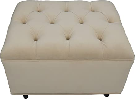 Fun Furnishings Tres Chic Ottoman,  Buckwheat