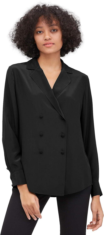 LilySilk Silk Shirts Blazer Style Formal Office Ladies Work Wear Classic Blouse