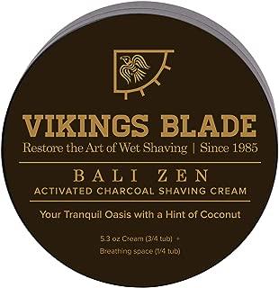 VIKINGS BLADE Activated CHARCOAL Anti-Ageing Luxury Shaving Cream (Bali Zen)