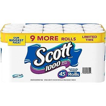 Scott 1000 Limited Edition Bath Tissue (1,000 Sheets, 45 Rolls)