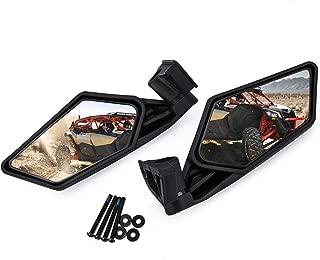 UTV Side Mirror Rear view Mirror Racing Side Mirrors for UTV Can Am Maverick X3 2017 2018 2019 2020 Suzuki Quadracer 450 2006-2009 (Pair of mirror)