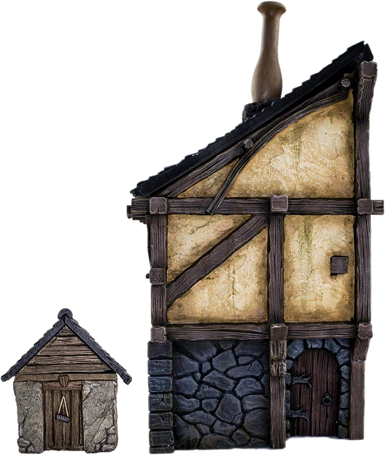 WWG Fantasy Village House and Outhouse – 28mm Medieval Wargaming Terrain Model Scenery