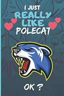I Just Really Like polecat ok?: Blank lined notebook gifts for men, women, boys and girls I Notebook for animal lover