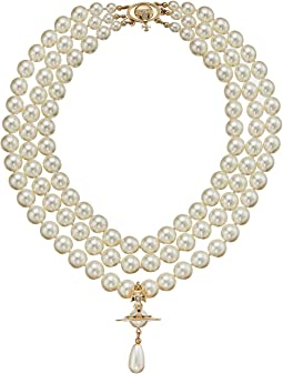 Three Rows Pearl Necklace