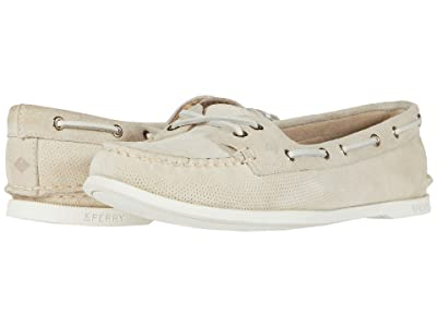 Sperry A/O Skimmer Pin Perf Nubuck (Ivory) Women