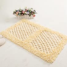 Household Textiles, Bathroom Non-Slip Absorbent Carpet dust White Blue and White pad 45 * 70cm (Color : Beige)