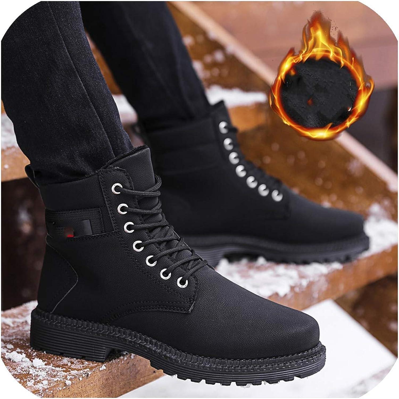 Winter Plus Cotton Martin Boots Men's High Waist Boots Wind High shoes