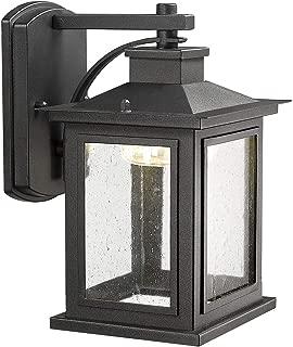 Bestshared Outdoor Wall Mount LED Lights, LED Lantern in Black Finish, 9W LED, 3000K Warm White