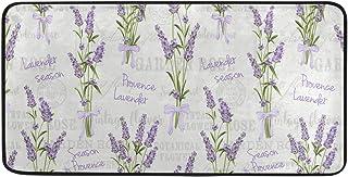 CaTaKu Provence Tapis en polyester avec motif fleur de lavande 39x50,8 cm Tapis antidérapant Tapis de sol lavable pour cui...