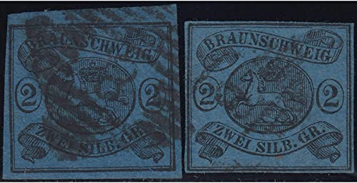 Goldhahn BraunschWeiß Nr. 7a+b gestempelt Briefmarken für Sammler