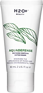 Face Mask, Aquadefense Refining Matcha Detox Mask by H2O+ Beauty, Minimizes the Appearance of Pores and Removes Environmental Toxins, 2 ounce