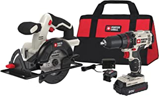 PORTER-CABLE 20V MAX Cordless Drill Combo Kit with Circular Saw, 2-Tool (PCCK612L2)