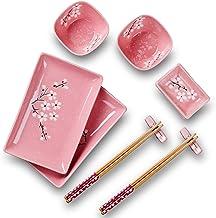 Panbado Porzellan Japanisch Sushi 10-teilig Set, Rechteckig