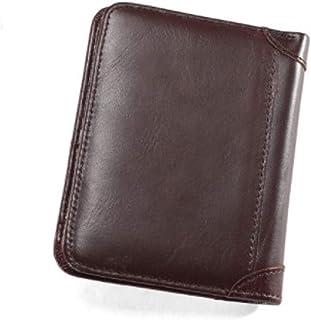 محفظة للرجال جلد أصلي عالي الجودة، محفظة ثينك مايل محفظة حاملة للبطاقات محفظة صغيرة مرنة واصلية وعالية الجودة من كوجو