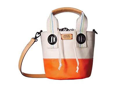 Frances Valentine Small Bucket (Natural/Orange) Handbags