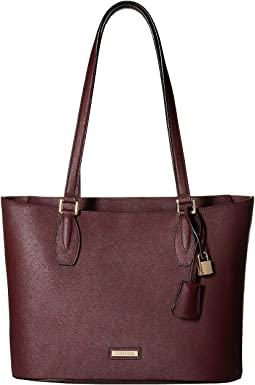 Brooke Saffiano Leather Top Zip Tote