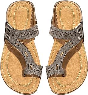 Laoonl Teenslippers voor dames, voor in het zwembad en op het strand, comfortabele strandschoenen, binnen en buiten