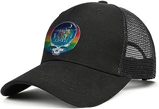 MUSOWIC Men Women's Distressed-Skull-Roses-Grateful-Dead- Cap Designed Hats Hiking Caps