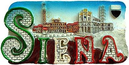Im/án para nevera Siena Italy 3D con dise/ño de casa y gatito