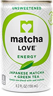 Matcha Love Green Tea Unsweetened Energy Shots, 5.2 Ounce (Pack of 20)