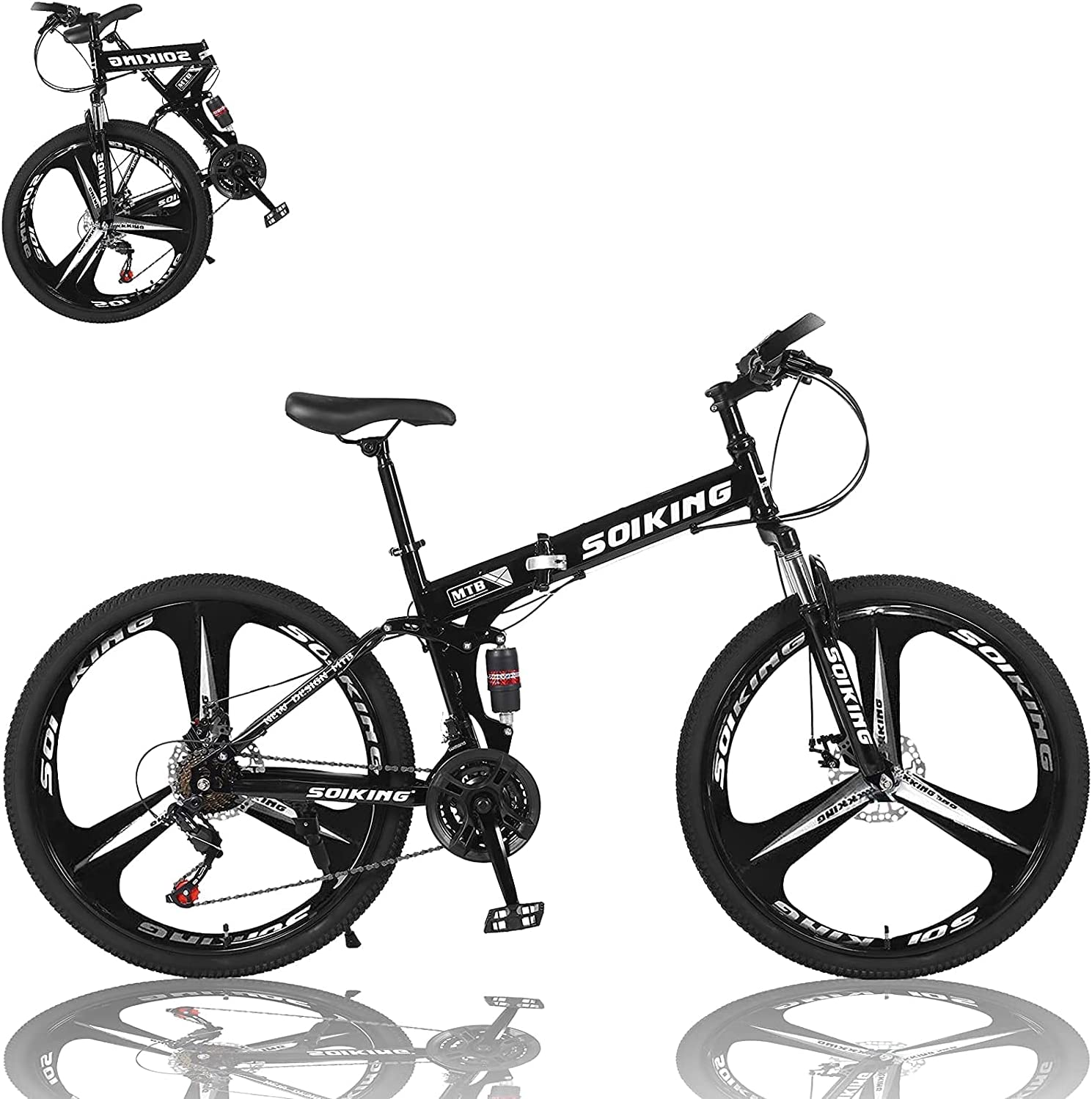 26In Foldable Bicycle Mountain Bike Brand new - 21 Carbon Steel High Speed Portland Mall