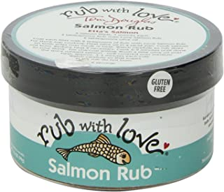 Rub with Love Salmon Rub Seasoning (3.5 oz.) All-Natural Herbs and Spices | Classic Dry Rub for Fish, Chicken, Pork, or Steak | Rich, Smoky Flavor