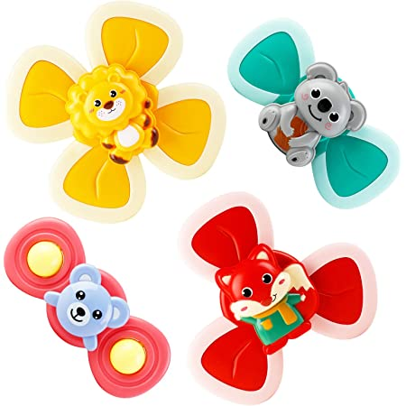 Amazon Com B Bangcool 3pcs Spinner Toys Butterfly Cartoon Spinning Suction Toys Suction Cup Spinning Top Toy Spinner Toys Bath Toy Kitchen Dining