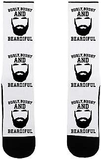 Burly Bushy and Beardiful US Size 7-13 Socks by LookHUMAN