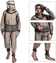 Lixada Bug Jacket Mosquito Suit Unisex Ultra-fine Mesh Summer Bug Wear for Fishing Hiking Camping Gardening