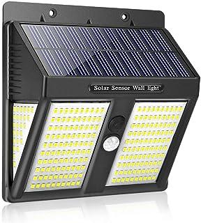 LAIYYI 2 st 250 LED solenergilampa, 2100 LM utomhus vattentät solvägglampa, PIR rörelse Senso, 270 ° vidvinkel för ytterdö...