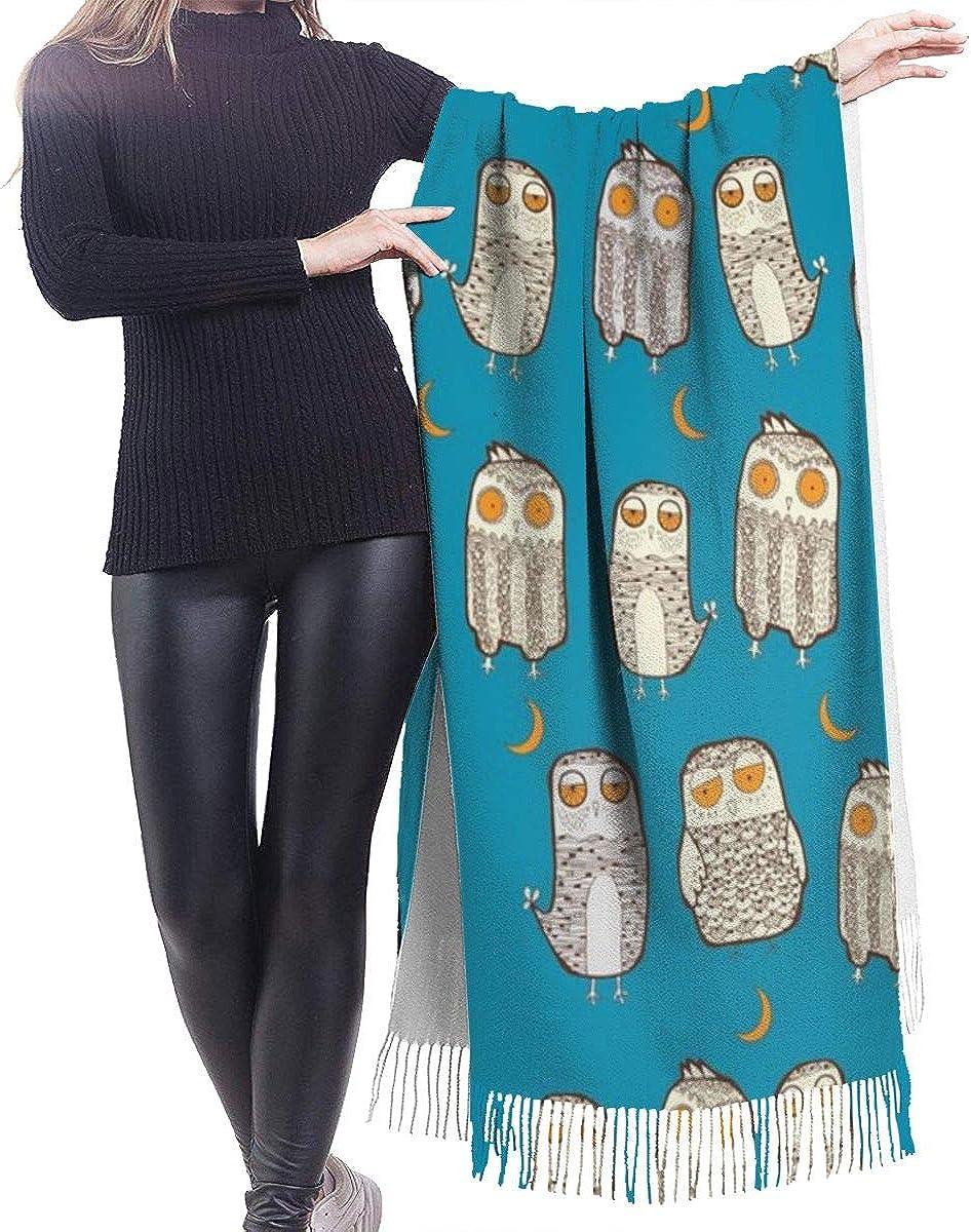 Owl Cashmere Shawl Wrap Scarf Large Warm Scarf For Women