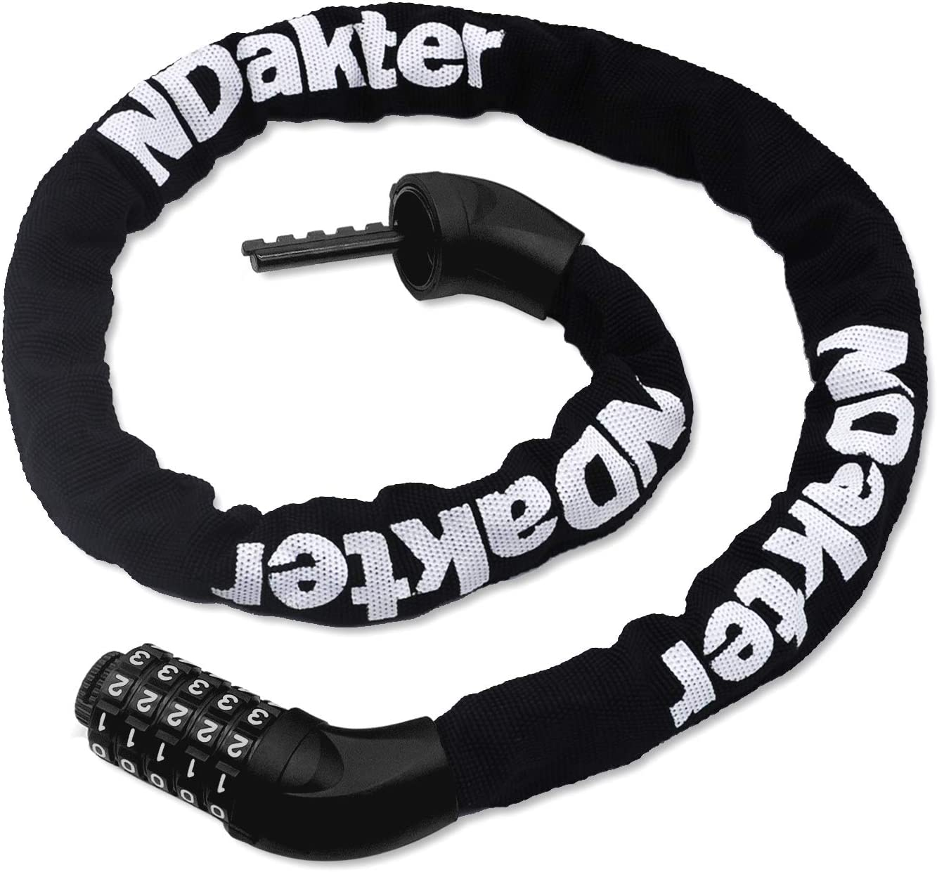 NDakter Bike Chain Max 79% Manufacturer OFFicial shop OFF Lock 5-Digit Bicycle Anti-Theft Combination