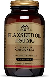 Solgar Aceite de Linaza Cápsulas blandas de 1250 mg - Envase de 100