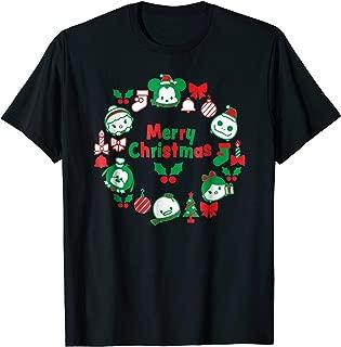 Tsum Tsum Character Wreath Christmas Holiday T-Shirt